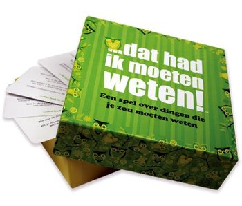 Party Game 'I Should Have Known That' (dutch version)