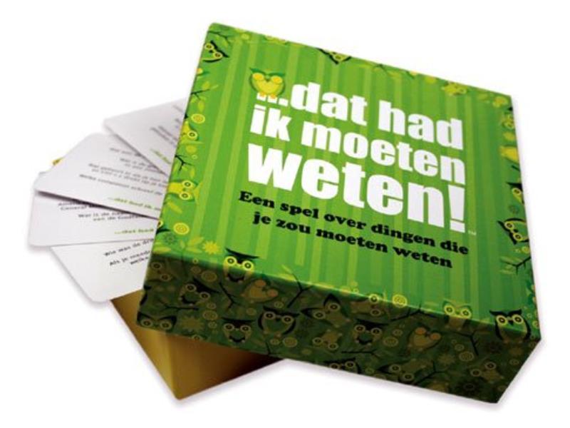 Hygge Games Party Game 'J'aurais dû savoir ça' (version néerlandaise)