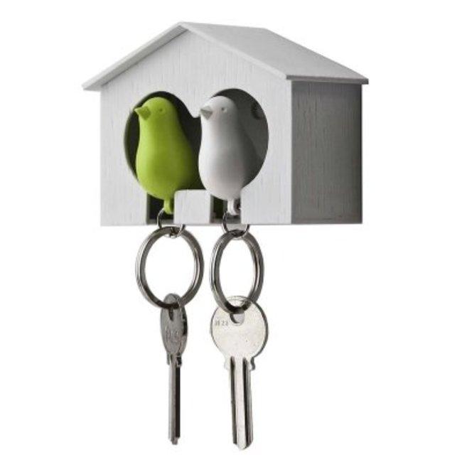 Schlüsselanhänger mit 2 Schlüsselringen 'Spatz'