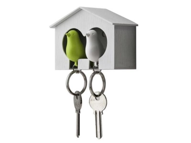 Qualy Nichoir & 2 Porte-Clés 'Sparrow'
