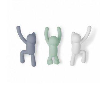 Wandkapstokken 'Buddy Hooks' (3 colors)