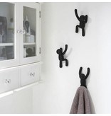 Umbra Wall Coat Rack 'Buddy Hooks' (black)