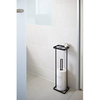 Yamazaki  Toilet Paper Holder 'Open Tower' (black)