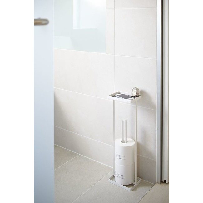 Yamazaki  Toilet Paper Holder Open Tower -  white