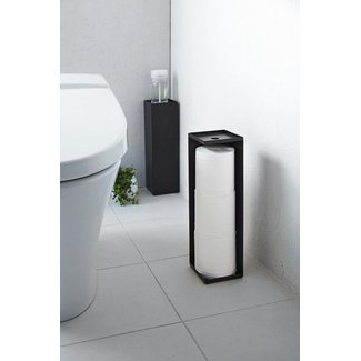Yamazaki  Toilet Paper Holder 'Closed Tower' (black)