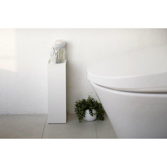 Yamazaki  Porte Papier-Toilette 'Closed Tower' (blanc)