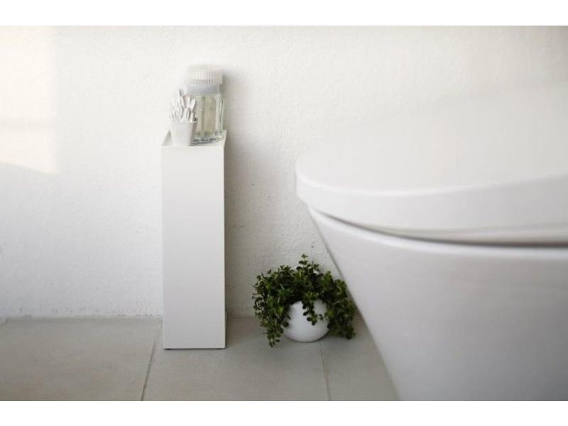 Toilet Paper Holder : Toilet paper holder closed tower white yamazaki axeswar design