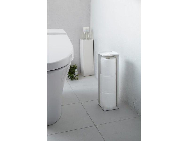 Yamazaki  Toilet Paper Holder 'Closed Tower' (white)