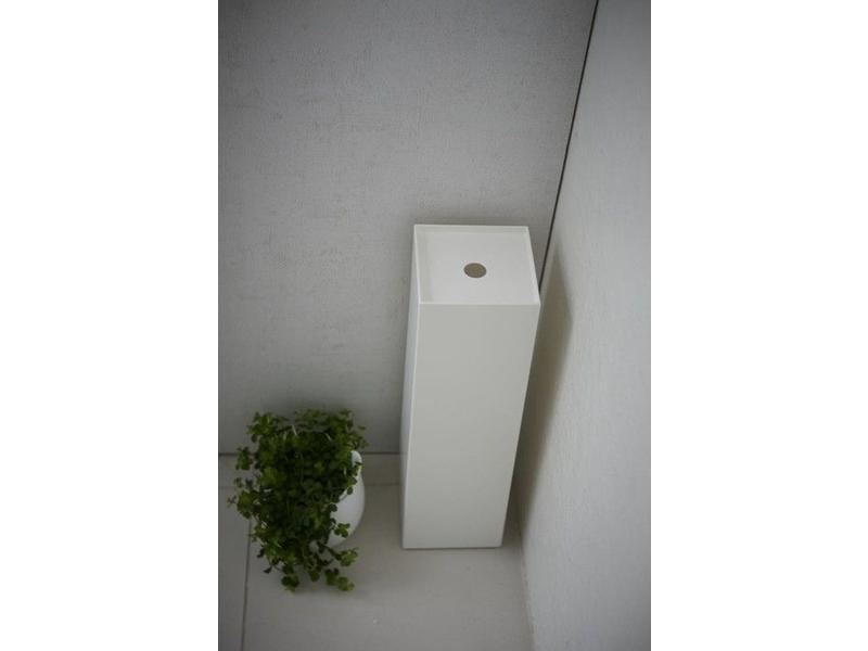 Yamazaki  WC-Rolhouder 'Closed Tower' (wit)