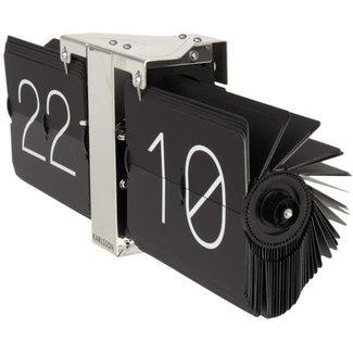 Karlsson Flip Clock 'No Case' (zwart/chroom)