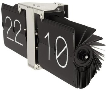 Flip Clock 'No Case' (zwart/chroom)