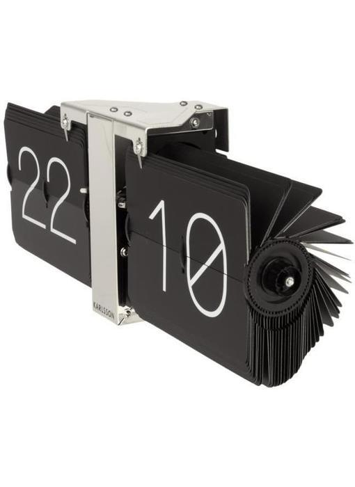 Flip Clock 'No Case' (noir/chromé)
