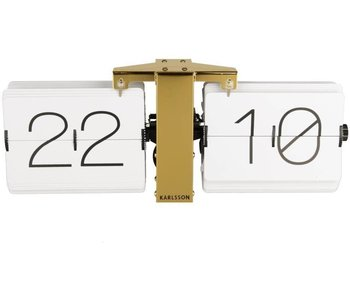 Flip Clock 'No Case' (white/brass)