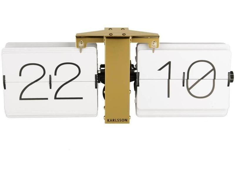 Karlsson Flip Clock 'No Case' (wit/brons)
