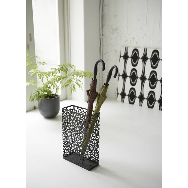 Yamazaki - Umbrella Stand Nest - rechteckig - schwarz