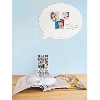 FAB5 Wonderwall Magnetic Board - Whiteboard Text Balloon (medium)