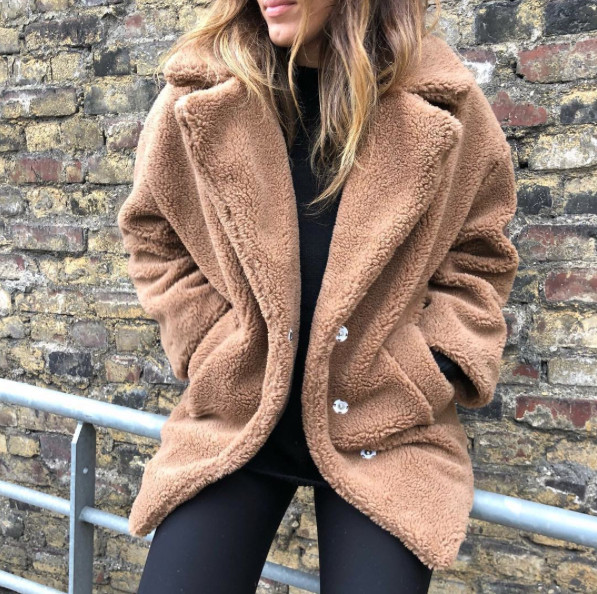 Teddy Jas We.Teddy Camel Coat We Love Musthaves
