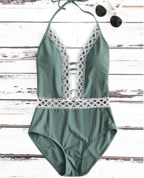 GREEN SUMMER SWIMSUIT