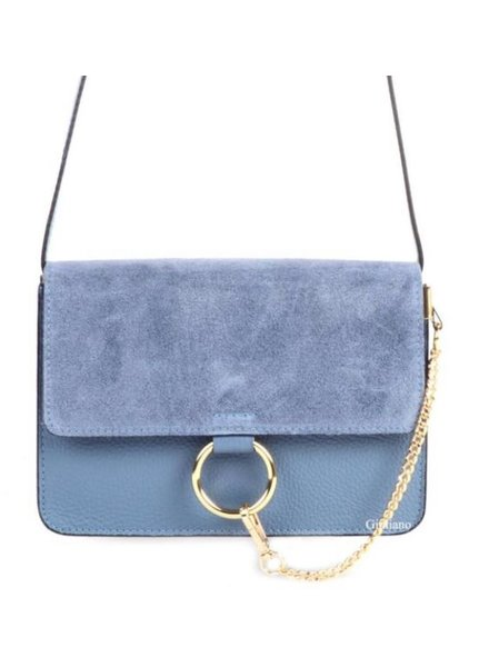 SUEDE BLUE BAG