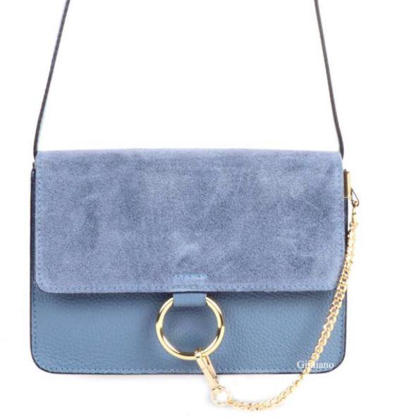 SUEDE BLUE BAG