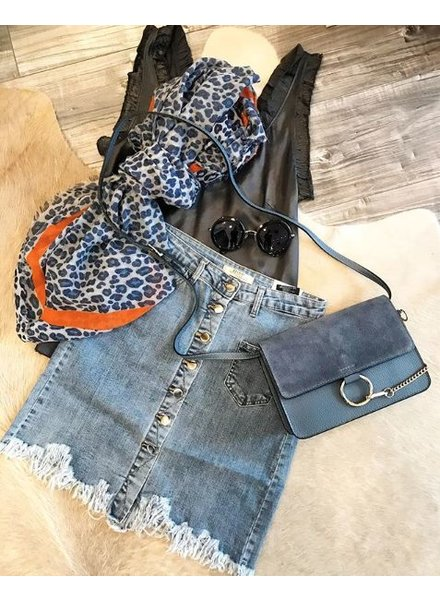 FESTIVAL DENIM SKIRT