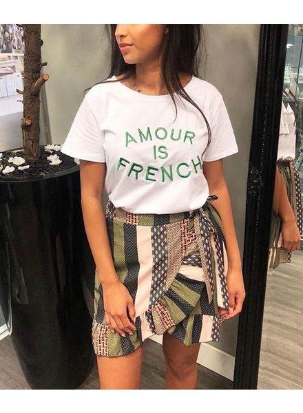 AMOUR FRENCH TEE GREEN