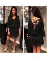 BLACK LEO DRESS