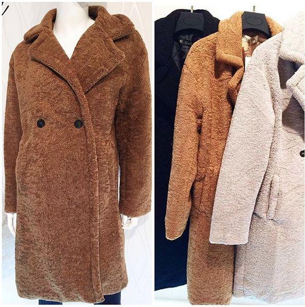 Teddy Jas We.Teddy Coat Camel We Love Musthaves