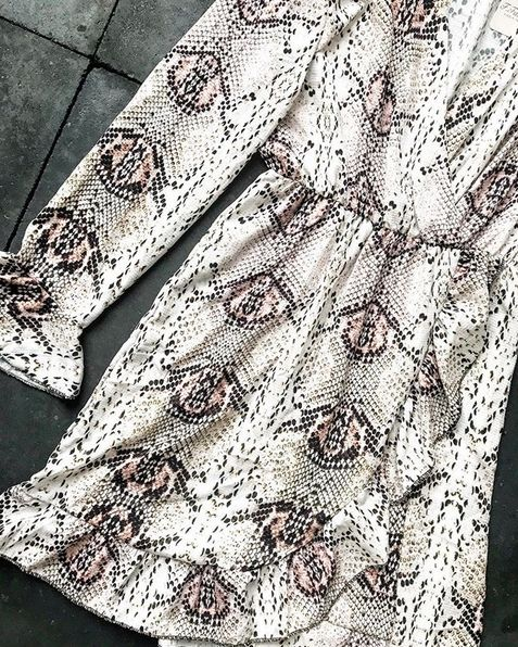 SNAKE VOLANT DRESS