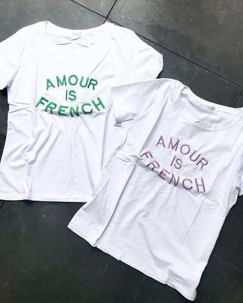 AMOUR FRENCH TEE LILA