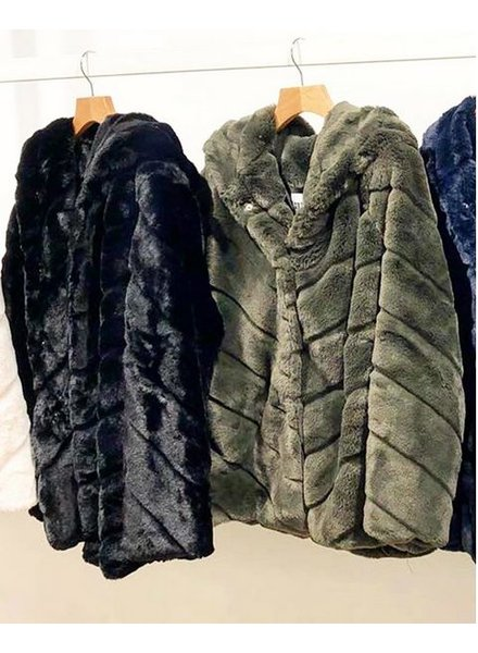 HOODED JACKET ARMY