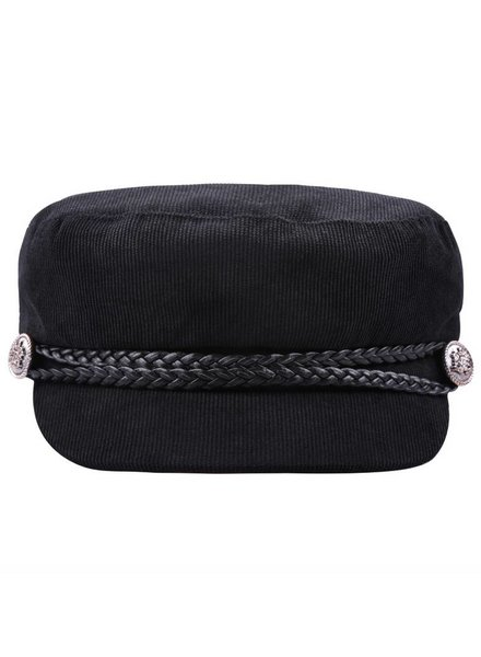 SAILOR CAP CORDUROY BLACK