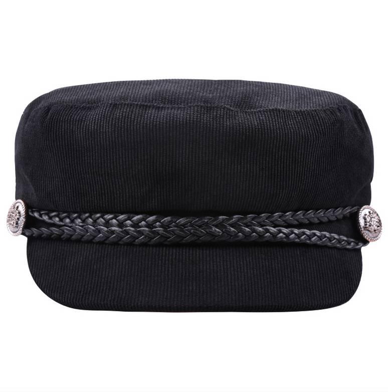SAILOR CAP CORDUROY BLACK