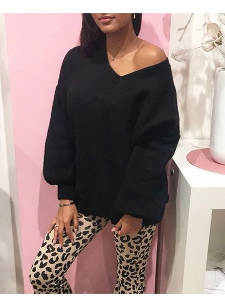 PUFF SWEATER BLACK