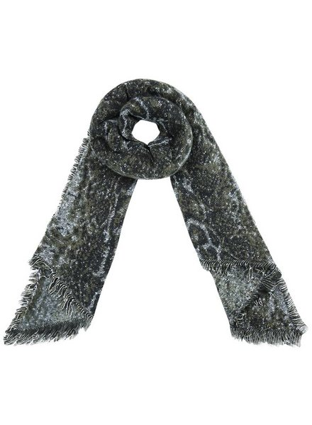 SNAKE WINTER SCARF GREEN