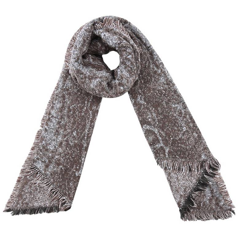 SNAKE WINTER SCARF BEIGE