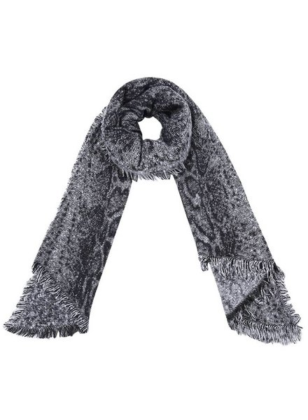 SNAKE WINTER SCARF GREY