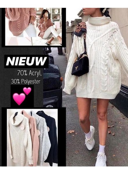 BEIGE KABEL SWEATER