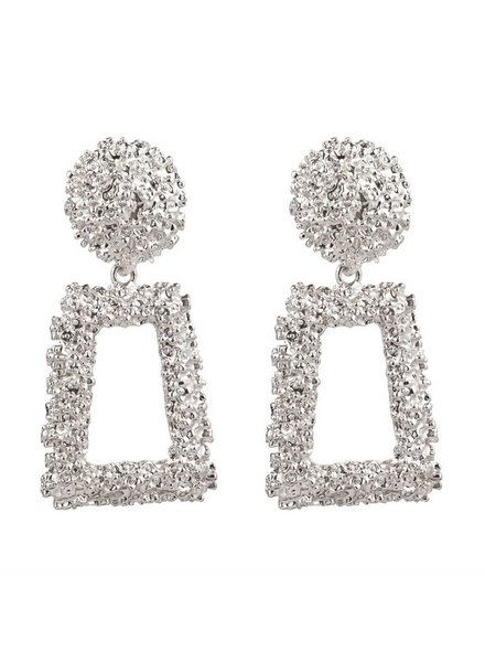 EARRINGS TEXTURED GLAM