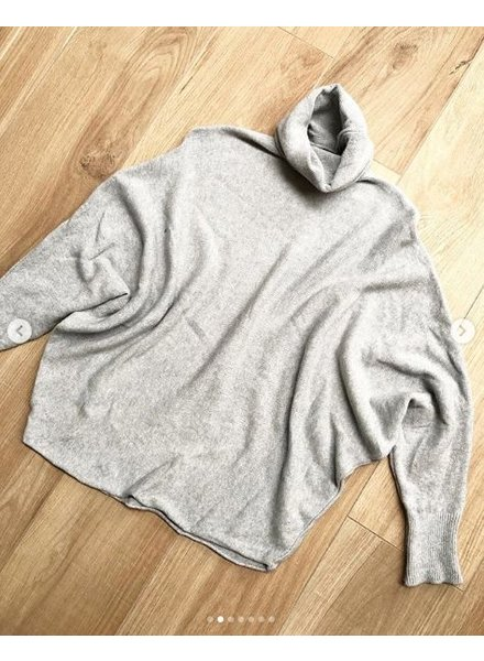 SOFT COLL SWEATER GREY