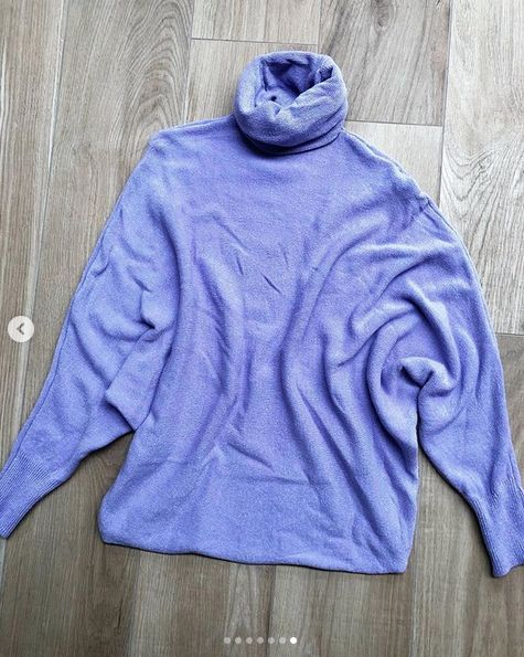 SOFT COLL SWEATER LILA