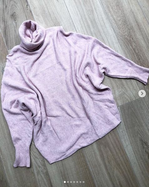 SOFT COLL SWEATER PINK
