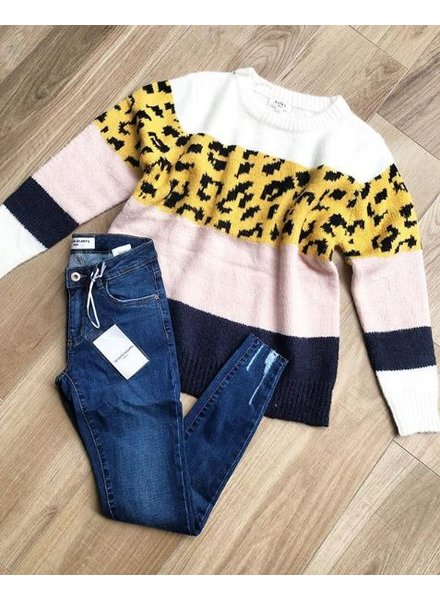 LEO STRIPE SWEATER YELLOW