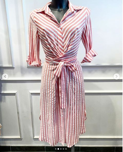 BARDOT BEACH DRESS RED