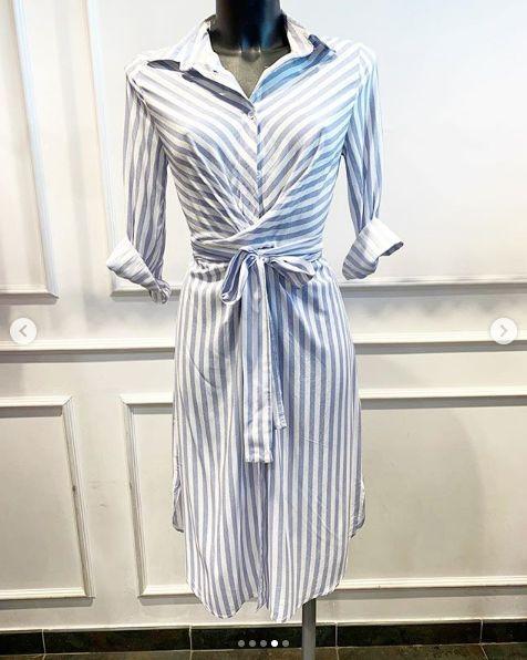 BARDOT BEACH DRESS BLUE
