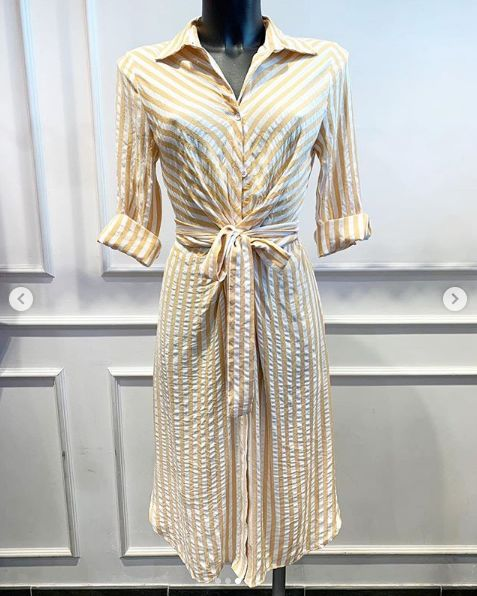 BARDOT BEACH DRESS YELLOW