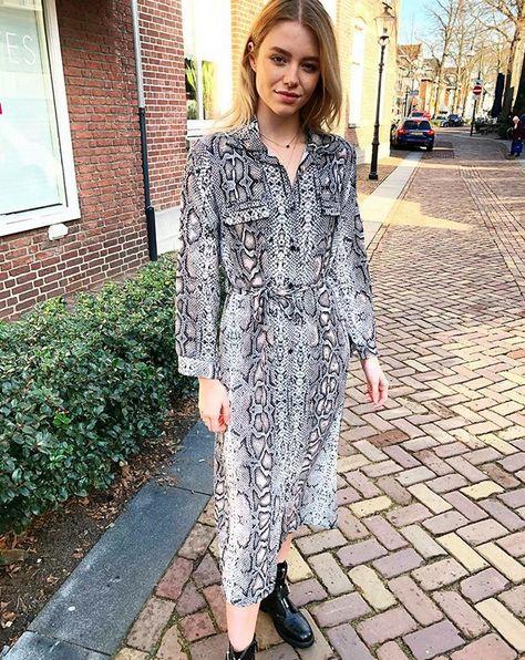 MAXI SNAKE DRESS