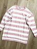 SWEATER DRESS STRIPE PINK