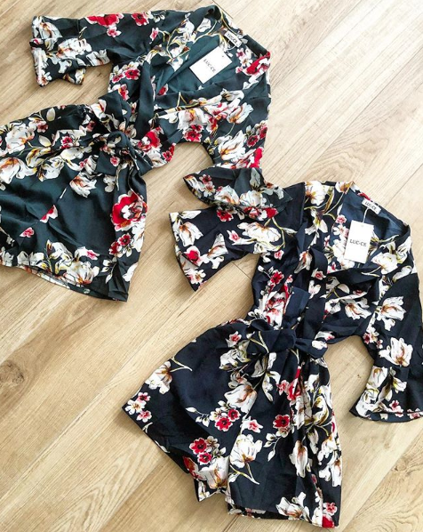 FLORAL JUMPSUIT GREEN