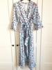 VOLANT SUMMER DRESS MAXI BABY BLUE